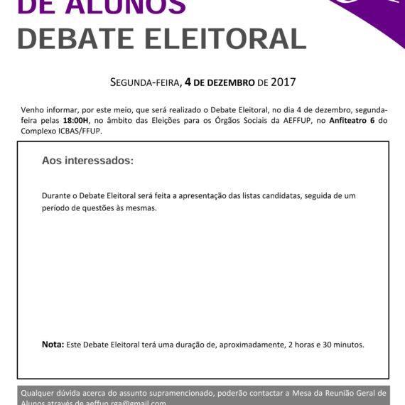Debate eleitoral