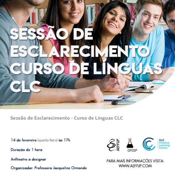 Sessão de Esclarecimento Curso de Línguas CLC